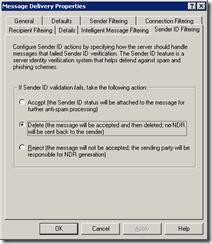 Exchange в борьбе со спамом:фильтрациясоединений,DNSBL